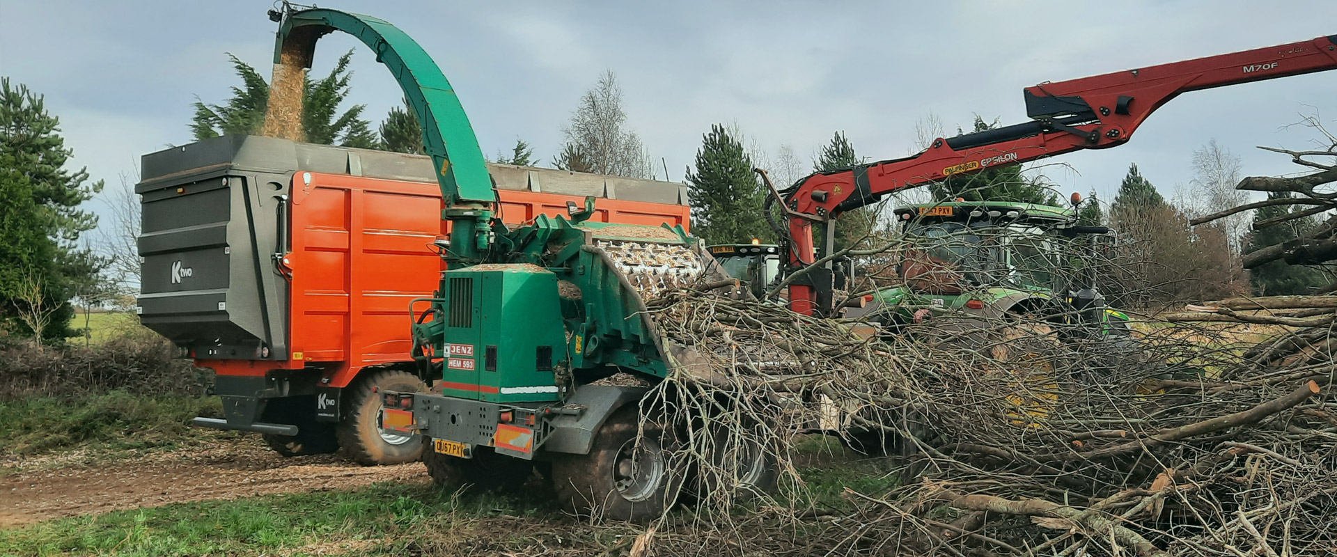 King Agricultural Contracting Services Contract Wood Chipping Header 1